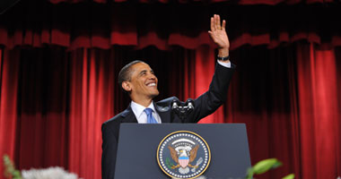أوباما خلال خطابه فى جامعة القاهرة - AFP