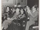 """صورة نادرة لــ""""أم كلثوم""""مع خال الملك فاروق وحسين هيكل وعلى ومصطفى أمين"""