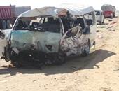 إصابة 12 شخصا فى انقلاب ميكروباص على الطريق الزراعى بالمنيا