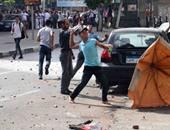 إصابة فرد أمن إدارى بجامعة الأزهر بالدراسة فى مظاهرة طلاب الإخوان