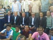 زيارة مفاجئة من وزير الشباب والرياضة لكلية التجارة بالإسكندرية