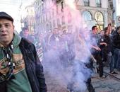 """شماريخ"" جماهير سانت إيتيان تشعل شوارع ميلانو"
