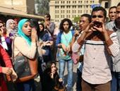 طلاب آثار القاهرة ينهون تظاهرهم بعد الاشتباك مع الأمن الإدارى