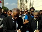 الآلاف يؤدون صلاة الغائب على شهداء العريش بجامعة المنصوة