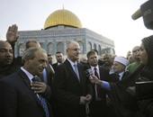 رئيس الوزراء الفلسطينى يزور قبة الصخرة فى القدس