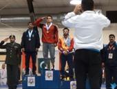 المصرى هيثم فهمى يتوج بذهبية بطولة العالم العسكرية للمصارعة بأمريكا