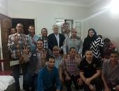 بالصور.. حمدين صباحى يلتقى عددًا من أهالى كفر الشيخ فى ثالث أيام العيد