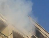 نشوب حريق هائل بروف أحد الأبراج السكنية فى المحلة