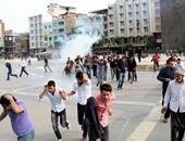 بالصور.. تجدد الاشتباكات فى تركيا بعد جنازة ضحايا تفجيرات أنقرة