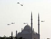 بالصور..طائرات الجيش فى سماء القاهرة للاحتفال بالعيد 42 للقوات الجوية