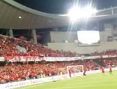 جماهير الأهلى تحتفل بالسوبر فى ملعب هزاع بن زايد
