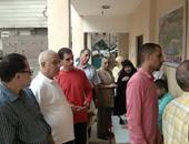 ناخبات ببولاق الدكرور يطلقن الزغاريد أثناء دخولهن اللجان الانتخابية