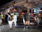 بالصور.. 10 قتلى و23 مصاب فى انفجار حافلة جنوب غرب باكستان