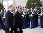 الرئيس الفرنسى يلتقى نظيرة الروسى بموسكو لبحث سبل مكافحة الإرهاب