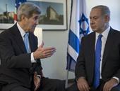 نتنياهو يلتقى جون كيرى الأحد فى روما لبحث عملية السلام مع الفلسطينيين