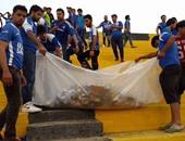 جماهير الميناء العراقى تُنظف الملعب بعد الفوز على الشرطة
