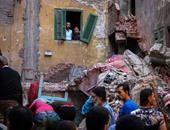 إصابة سيدة إثر انهيار أجزاء من منزلها بعد تصدعه فى الإسكندرية