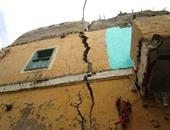 انهيار جزئى بمنزل قديم صادر له قرار إزالة فى الفيوم بعد 15 يوما من إخلائه