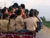 """تداول صورة لـ""""تروسيكل"""" ينقل تلاميذ إلى مدارسهم فى البحيرة"""