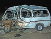 إصابة 10 أشخاص فى حادث انقلاب ميكروباص بطريق الفيوم