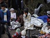 بالصور.. اللاجئون فى محنة جديدة على شواطئ جزر اليونان