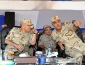 """بالصور.. وزير الدفاع يشهد مشروع تكتيكى بالذخيرة الحية """"بدر 2015"""" فى الجيش الثالث"""