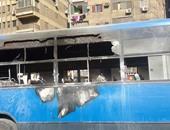 بالصور.. الإخوان يشعلون النار بـ3 أتوبيسات نقل عام ببولاق الدكرور وإمبابة
