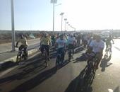 بالصور.. أهالى شرم الشيخ ينظمون رالى الدراجات الهوائية لتشجيع السياحة