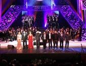 إيناس عبدالدايم ونصير شمة ومروة ناجى فى افتتاح مهرجان الموسيقى العربية