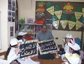 قومى الطفولة والأمومة يشارك فتيات مدرسة المعسكر بالجيزة احتفالهن