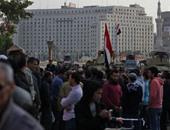 """أعضاء """"6 إبريل"""" يتظاهرون بميدان عبد المنعم رياض بعد حكم براءة مبارك"""