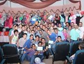 """بالصور.. إنجازات مشروع """"قدوة"""" مع طلاب المدارس لنشر فكرة التطوع"""