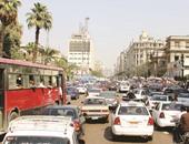 شلل مرورى بكورنيش النيل بسبب إغلاق بوابات قصر العينى