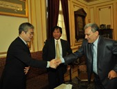 جابر نصار يستقبل سفير اليابان احتفالا بمرور 40 عاما على قسم اللغة اليابانية
