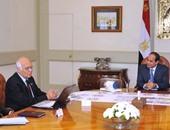 الرئيس يجتمع بمؤسس أكبر شركة ألمانية لماكينات الحفر وبناء الأنفاق