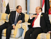 """بدء مباحثات الرئيسين السيسى واليمنى لبحث العلاقات الثنائية بـ""""قصر الاتحادية"""""""