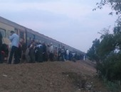 توقف قطار القاهرة / الإسكندرية فى أبو حمص بسبب عطل بالجرار