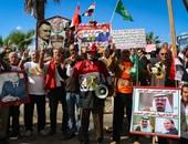 """مظاهرات بميدان القائد إبراهيم بالإسكندرية تحت شعار"""" مصر لن تركع"""""""
