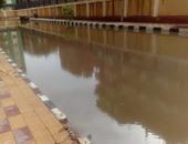 """""""صحافة المواطن"""": بالصور.. مياه الأمطار تغرق أروقة كلية الشريعة بطنطا"""