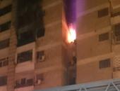 السيطرة على حريق ضخم داخل برج سكنى بالسويس دون خسائر بشرية
