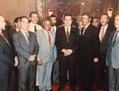 صورة نادرة للراحلين حسام الدين وعثمان مع الرئيس الأسبق مبارك