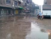 انفجار ماسورة مياه يمنع الناخبين من الوصول للجان فى شبرا الخيمة