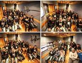 """حماقى ينشر صورة مع جمهوره أثناء تسجيله أغنية """"أجمل لحظة"""" للنادى الأهلى"""