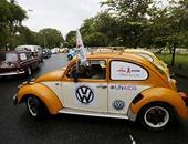 بالصور..سيارات فولكس فاجن تشارك فى مسيرة احتفالا باليوم العالمى للإيدز
