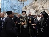 البابا تواضروس يصل القاهرة بعد ترأس قداس الأنبا إبرام فى القدس