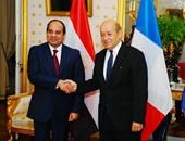 بالصور.. استقبال حافل للرئيس السيسى فى مقر وزارة الدفاع الفرنسية