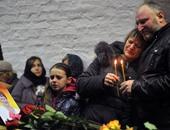 روسيا تدفن أشلاء المجهولين من ضحايا طائرة سيناء فى مقبرة جماعية