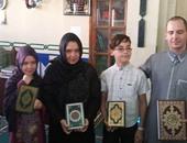 بالصور.. أسرة إلمانية تشهر إسلامها بمسجد التوحيد بالغردقة