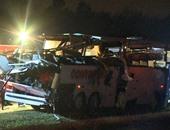 مصرع 13 شخصا وإصابة 31 آخرين فى تصادم بين حافلة سياح وشاحنة بكاليفورنيا