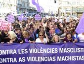 بالصور.. مسيرة كبيرة فى مدريد احتجاجا على العنف المنزلى فى إسبانيا